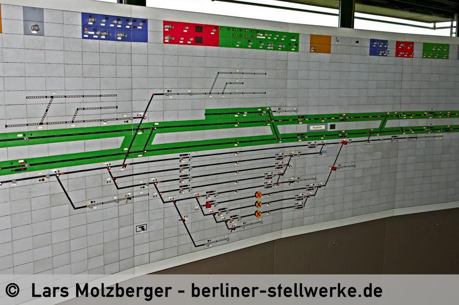 Die beiden Güterbahnhöfe. Oben die ehemaligen Anlagen der Militärbahn. 10. Juni 2010. Foto Lars Molzberger