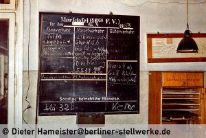 Am 16.9.1983 war das Stellwerk noch einmal besetzt gewesen. Der Grund ist mir leider nicht bekannt. Foto 1986 Dieter Hameister