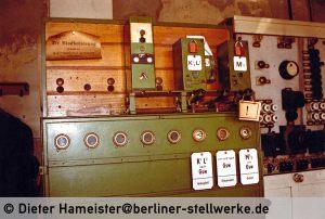 Nur noch wenige Hebel sind übrig geblieben. Die Hebel sind Bauform 1912, original erhaltene Hebel Bauform 1907 sind nicht mehr vorhanden. Foto 1986 Dieter Hameister
